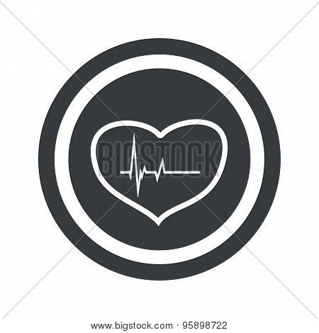 Round black cardiology sign