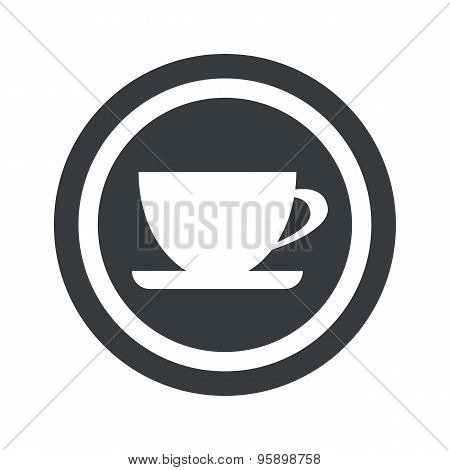 Round black cup sign