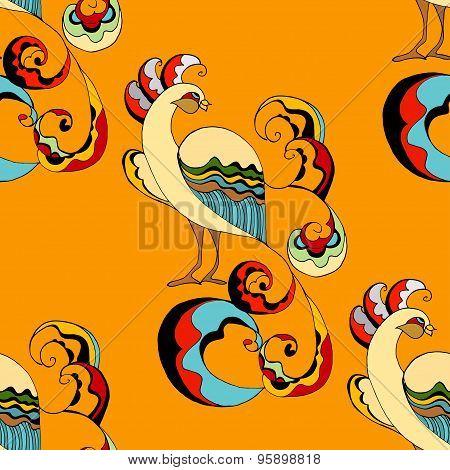 Peacocks Background