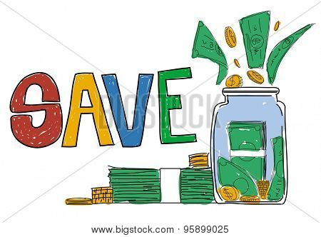 Save Saving Investment Finance Money Concept