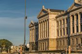 picture of neoclassical  - Neoclassical style landmark legislative palace of Uruguay located in the capital Montevideo - JPG