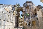 Постер, плакат: The ruins of the ancient amphitheater in Myra Turkey