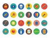 Medical Icons Set. Health and hospital symbols. Stock illustration. Interface elements..