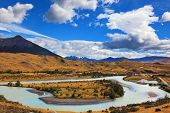 pic of snow capped mountains  - Beautiful summer morning in Patagonia - JPG