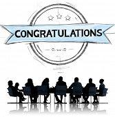 stock photo of congratulation  - Congratulations Achievement Celebration Admiration Concept - JPG