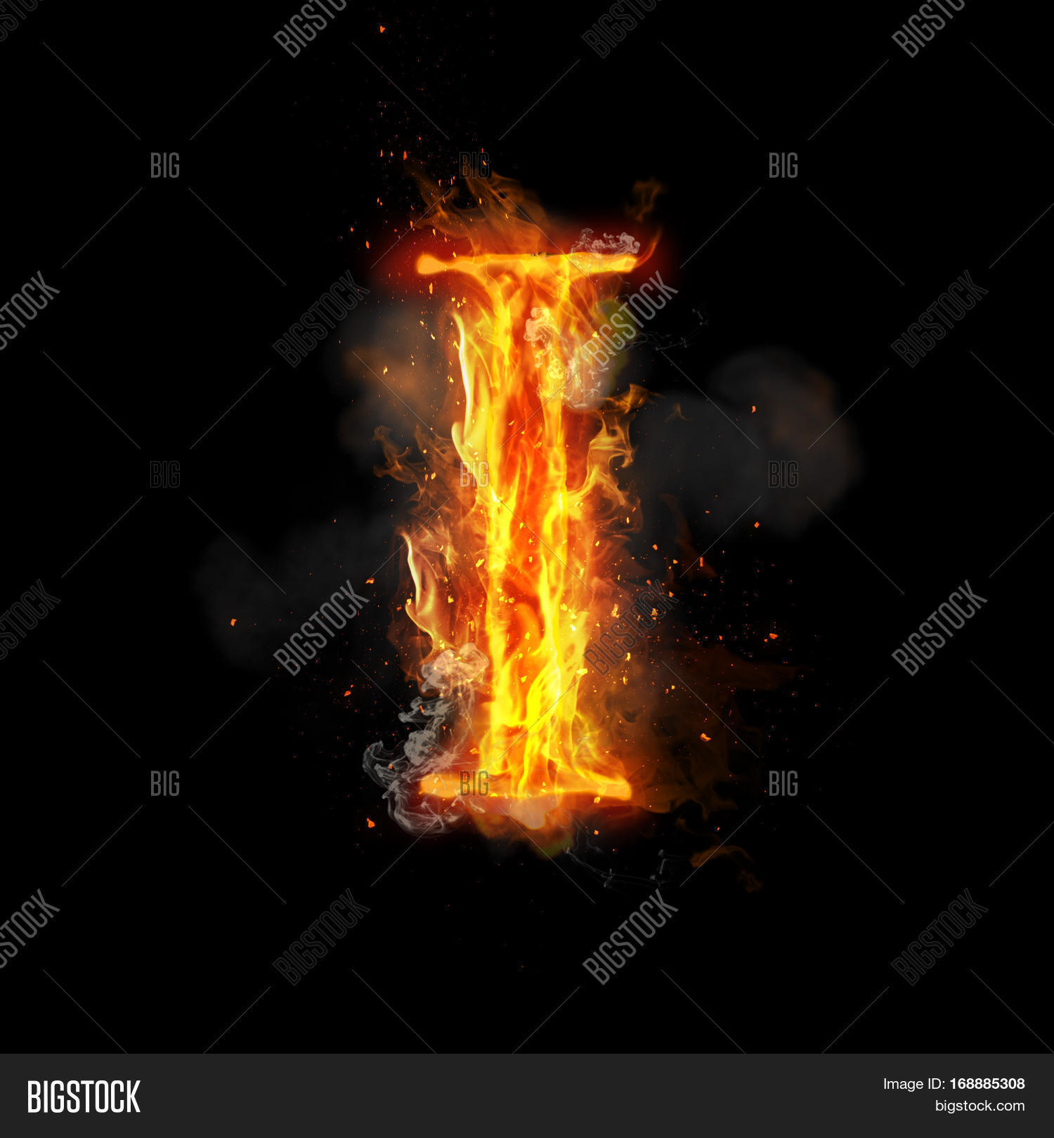 i letter in fire - photo #14