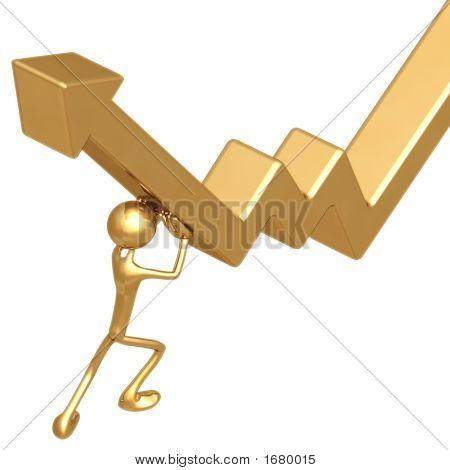 Pushing Up Market Arrow