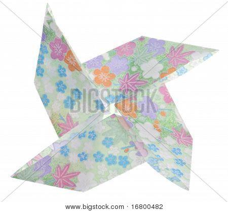 Pinwheel Shape Origami Folded Paper