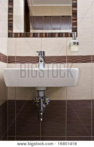 washbowl in bathroom