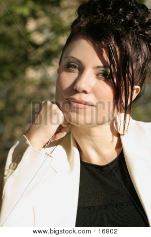 Sunlit Businesswoman
