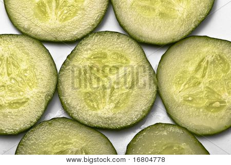 Tiled cucumbers background