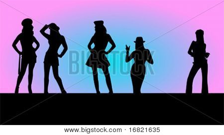 Woman figure background