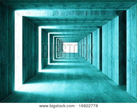 fine image of 3d concrete tunnel abstract background