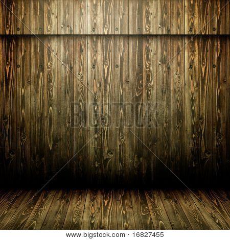 grunge wooden empty room