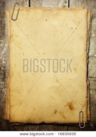 vintage notebook on brown timber background