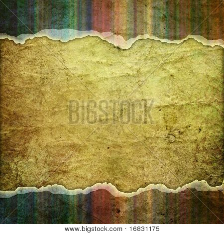 vintage striped background with place for text (cracked paper)