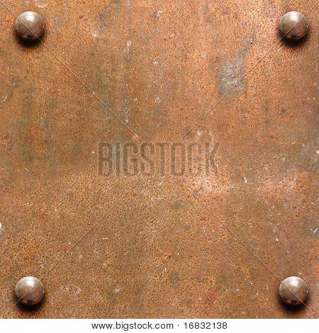 placa de metal cobre
