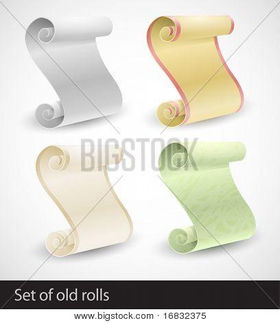 Set of old rolls
