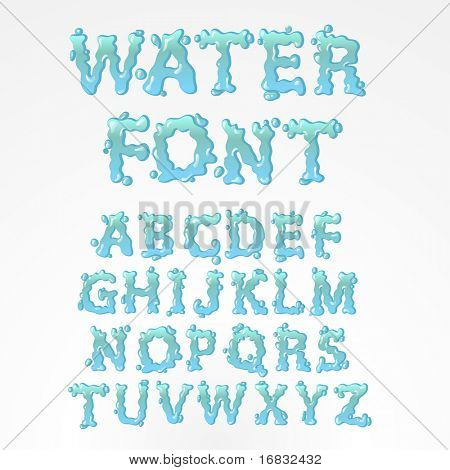Water alphabet - find more fonts in my portfolio