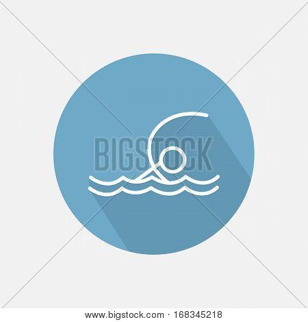 Swimmer sportsman in the sea icon vector