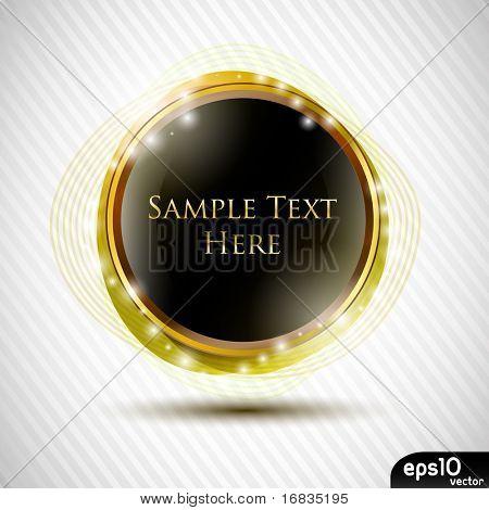 Glossy black speech bubble