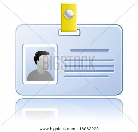ID card. Vector Name Tag.