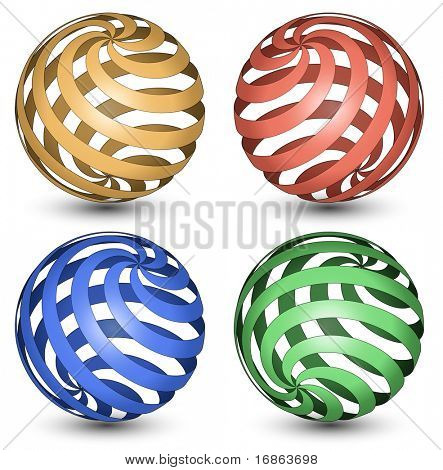 Abstract Globe Icon. Spiral