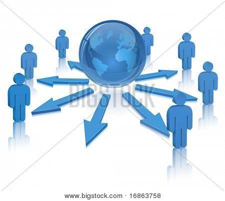 Social Media. Communication Concept (vector version in portfolio)