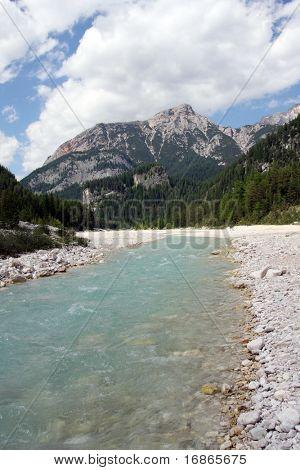Boite River in Dolomiti Mountains - Italy Europe