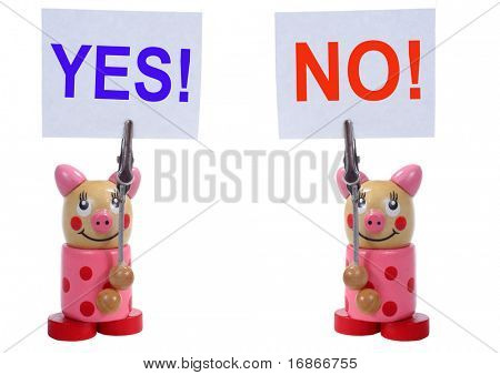 Two marching wooden piglet - unauthorized homework