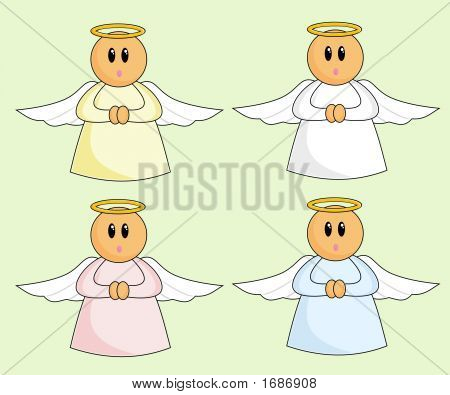 Cute Cartoon Angels