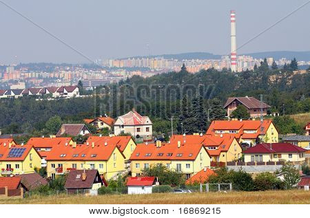 New family houses in Pilsen city periphery- Czech Republic