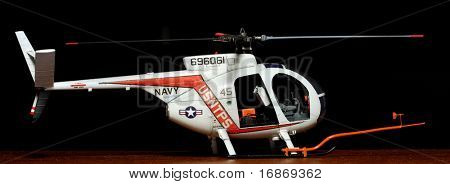 White rescue helicopter - plastic kit 1:72 scale - marking is fictive