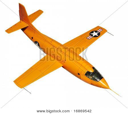 Orange jet. Jet is plastic kit 1:144 scale Homemade work