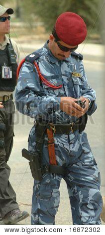 Iraqi SWAT officer.