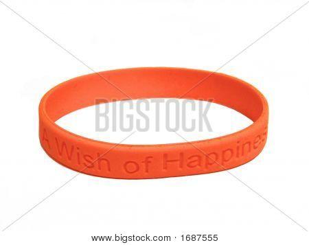 Orange Silicone Wristband