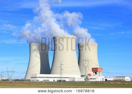 Nuclear power plant Temelin in Czech Republic Europe