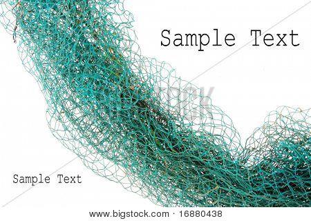 Angeln-Net und leicht abnehmbare Text.