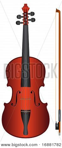 violín - vector