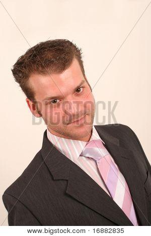 serious junior executive portrait - close up