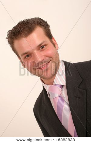 smiling junior executive portrait - close up
