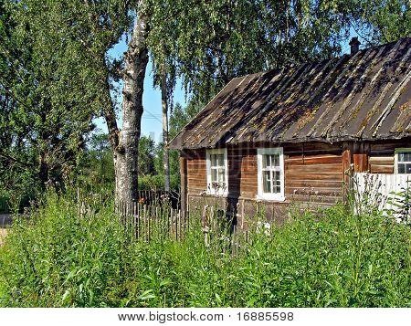 old wooden farmhouse