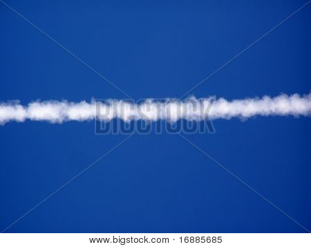 trace of the plane in sky