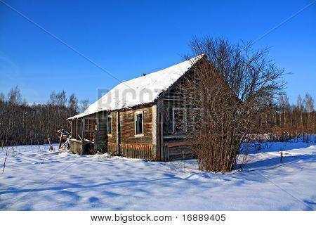 antigua casa de madera