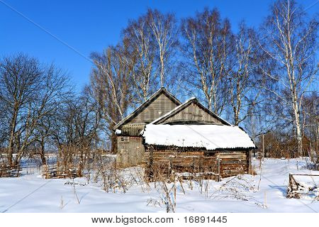 old wooden house in wood