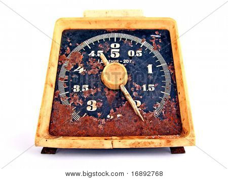 old rusty scales