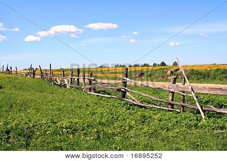 old fence near roads