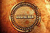 Постер, плакат: godfather 3D rendering grunge metal stamp