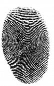 isolated finger print