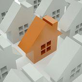 Постер, плакат: 3D дома один 3d Золотой дом из набора